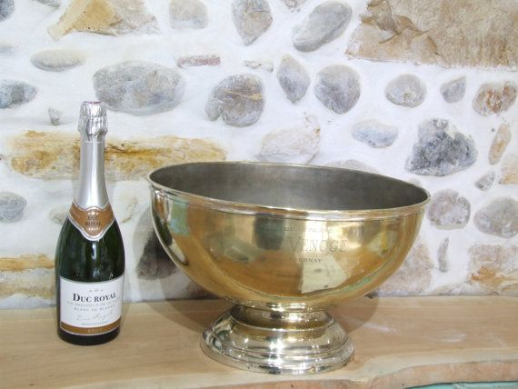 Extra Large Champagne Ice Bucket by VintageRetroOddities on Etsy