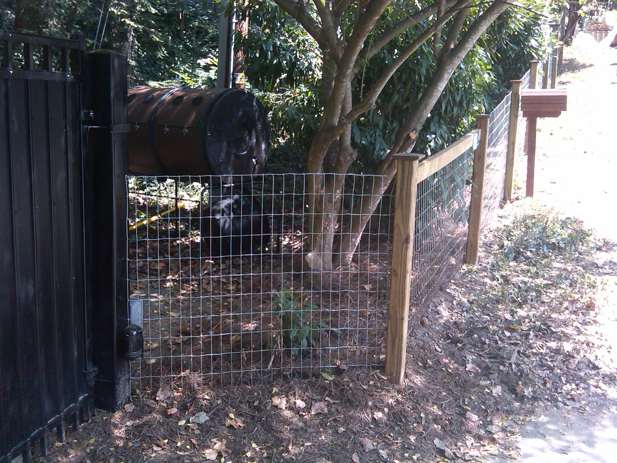 Wire-Fence-Woven-Mesh-with-Wood-Posts | Fencing Options | Pinterest ...