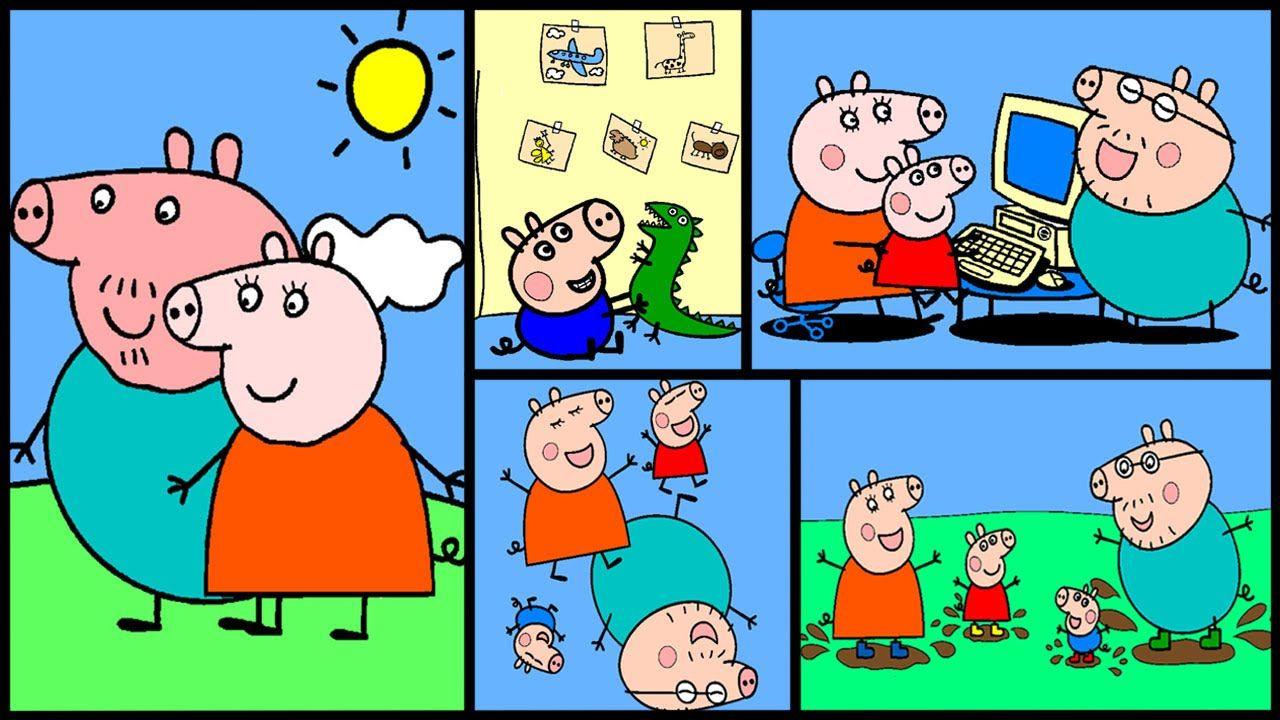 Pe peppa pig coloring pictures to print - Peppa Pig Matching Pairs Game Free Online Peppa Pig Games Peppa Pig Coloring Pages Peppa Pig Coloring Book Pinterest Peppa Pig Games
