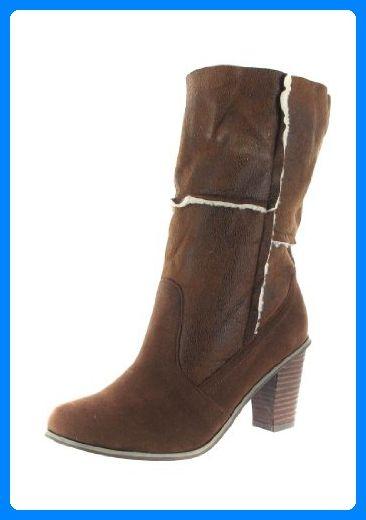 dde703d4fe66a2 SALE - ANDRES MACHADO - Damen Stiefel - Braun Schuhe in Übergrößen ...