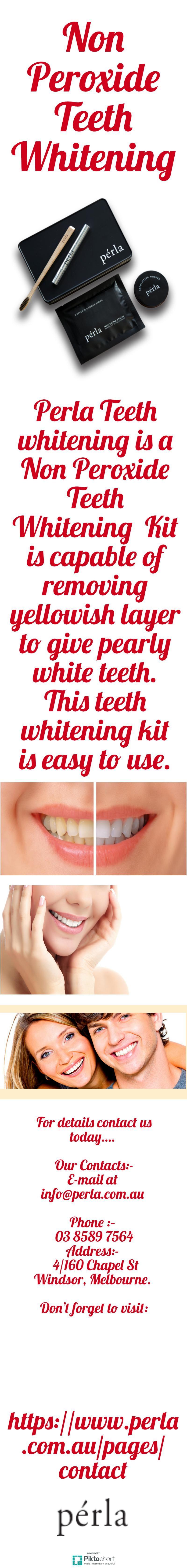 perla teeth whitening is a non peroxide teeth whitening kit is