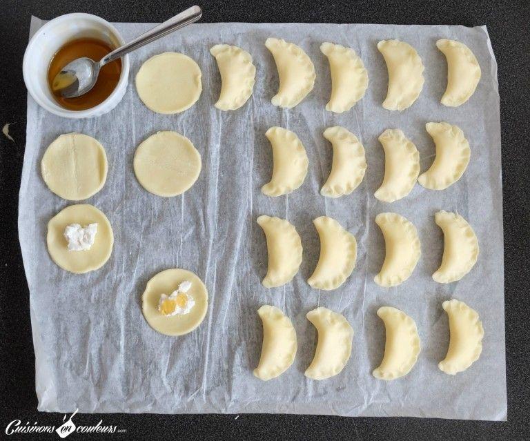 Chaussons au fromage de chèvre et au miel - Cuisinons En Couleurs