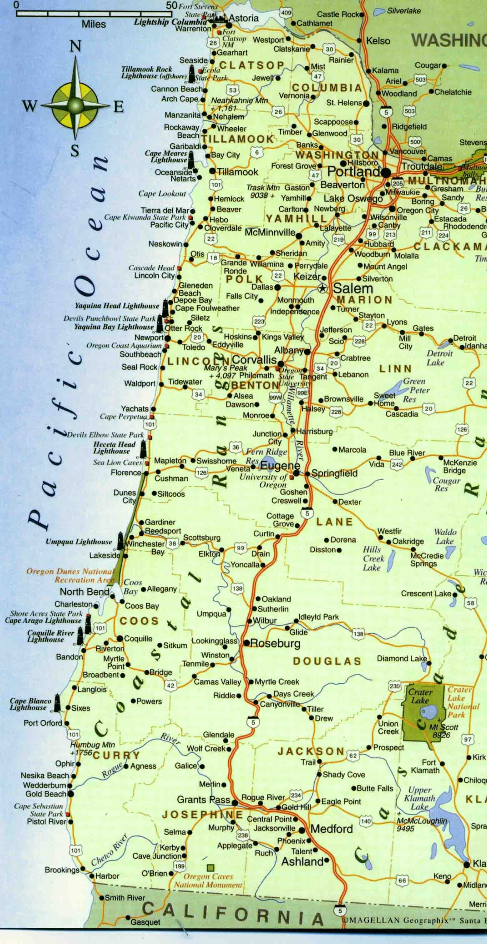 Map of the Oregon Coast maybe for framing DIY Pinterest