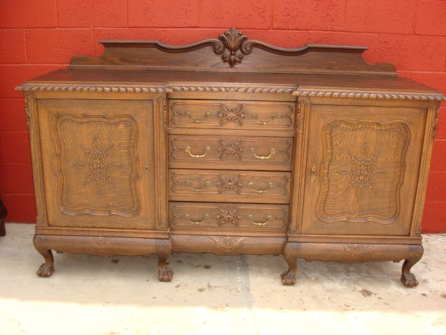Antique Furniture French Antique Carved Chippendale Sideboard server  Cabinet Antique Cupboard - Antique Furniture French Antique Carved Chippendale Sideboard Server