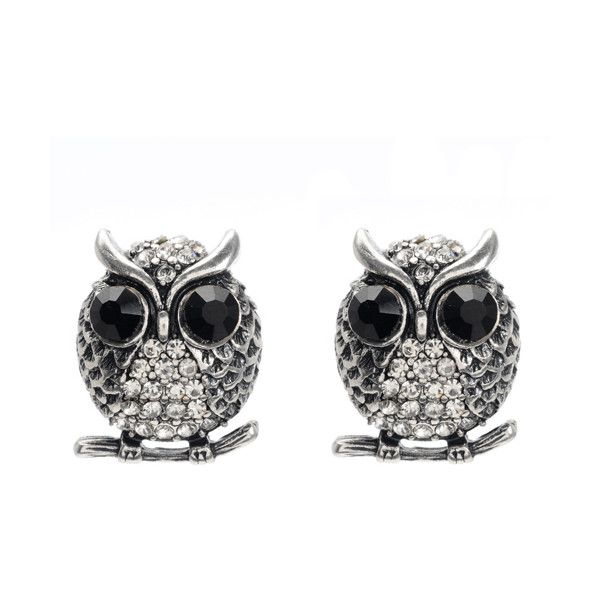 Amrita Singh Owl Earring 50 Liked On Polyvore Featuring Jewelry Earrings