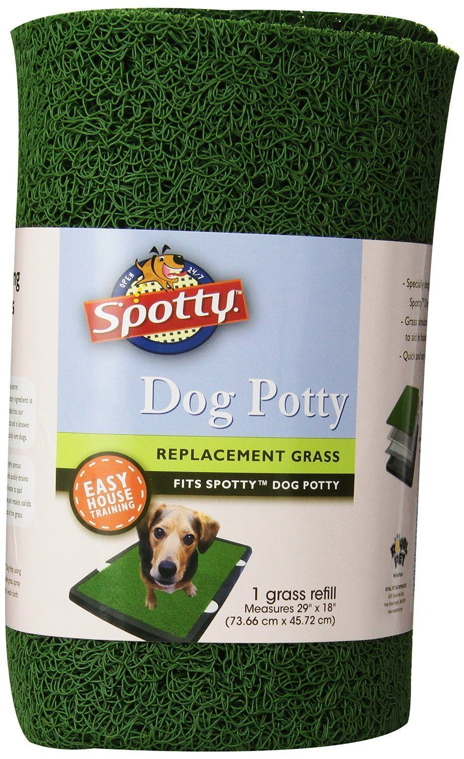 Spotty Indoor Dog Potty Replacement Grass Is Made Of Pvc Which