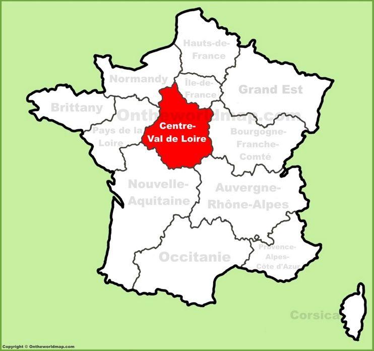 CentreVal de Loire location on the France map Maps Pinterest