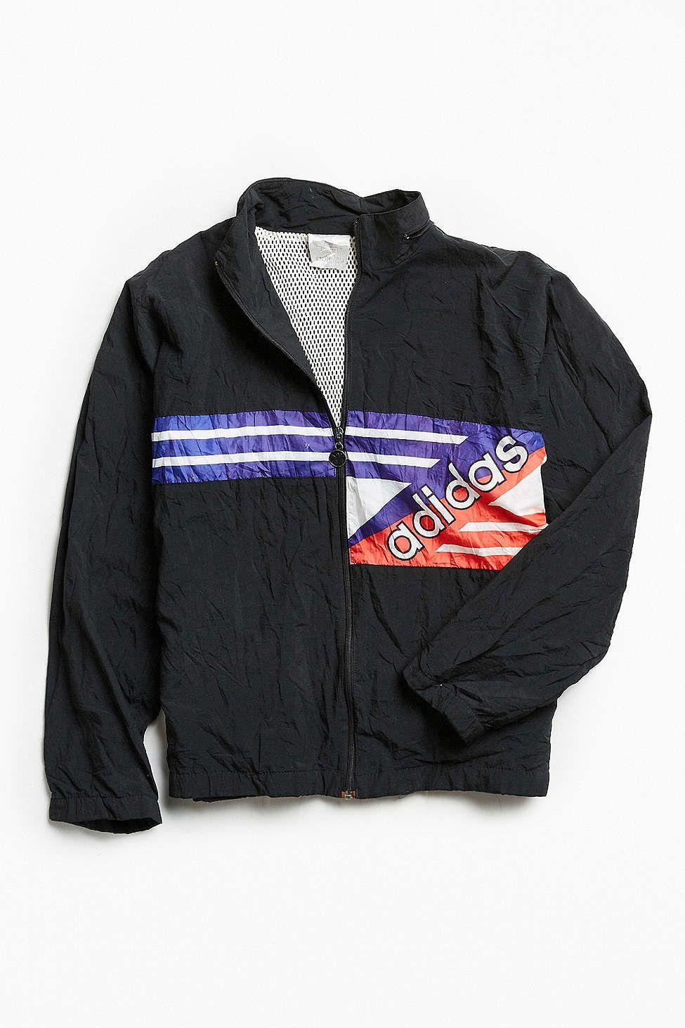 5d47b42fa4f Vintage adidas Flag  90s Prep Sport Windbreaker Jacket