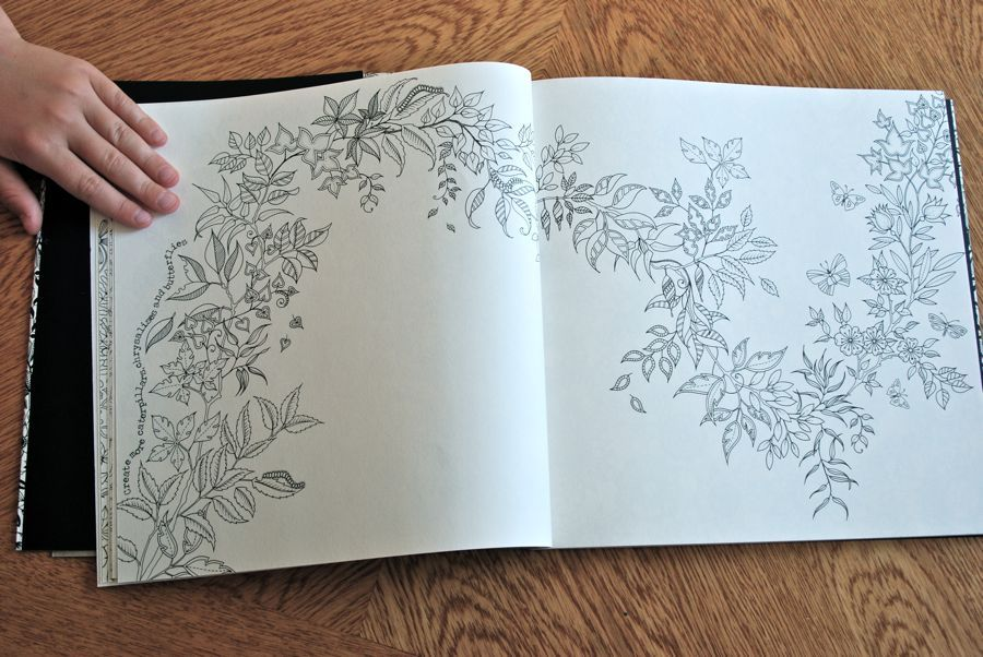The Secret Garden Coloring Book By Johanna Basford Garlands Flow Over Pages