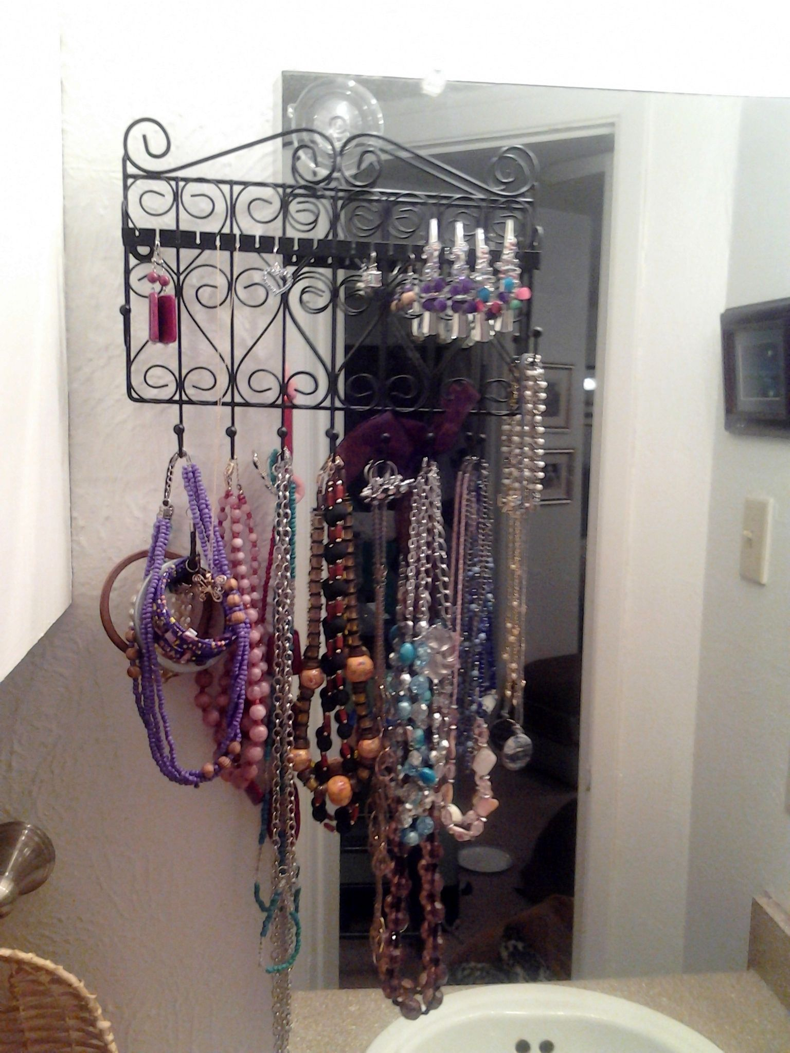 A little more detail on the jewelry organizer I searched high and