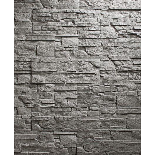 plaquette de parement tenerife en pl tre gris anthracite renovation hardwood floors. Black Bedroom Furniture Sets. Home Design Ideas
