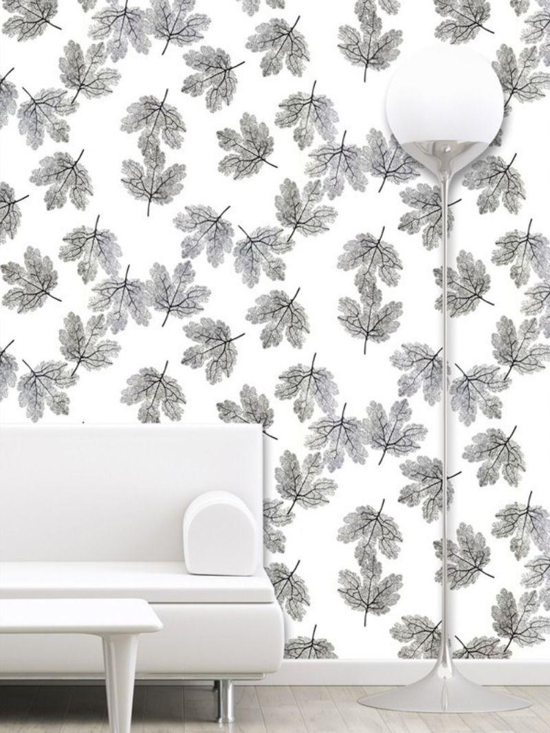 Pvc Vinyl Decorative Wallpaper With Maple Leaf Pattern 57 Sq Ft Wallpaper Decor Floral Wallpaper Wallpaper
