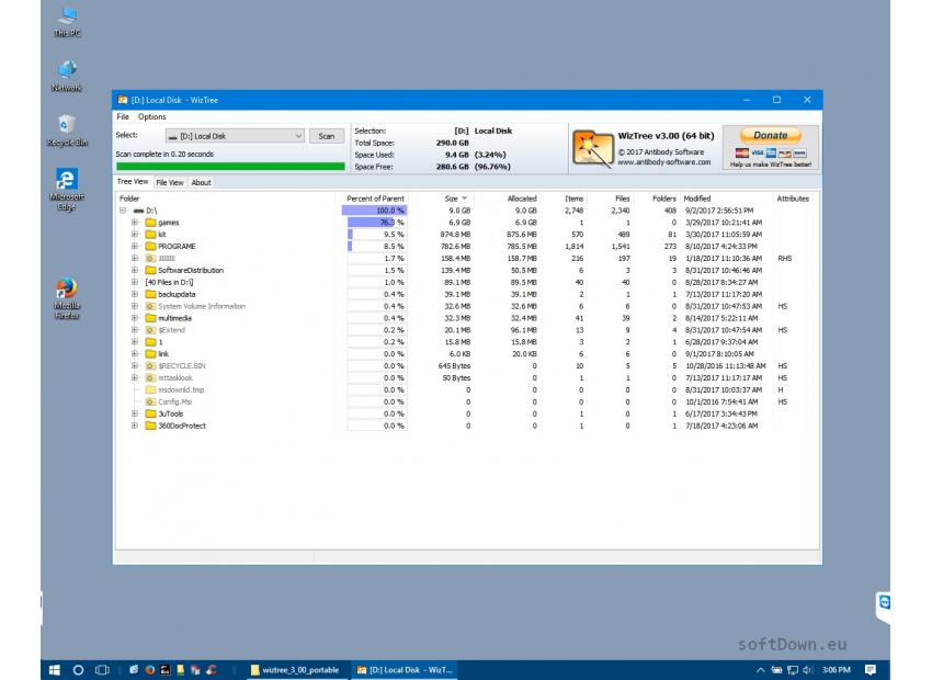 WizTree, Free Download - softDown eu | WINDOWS | Windows