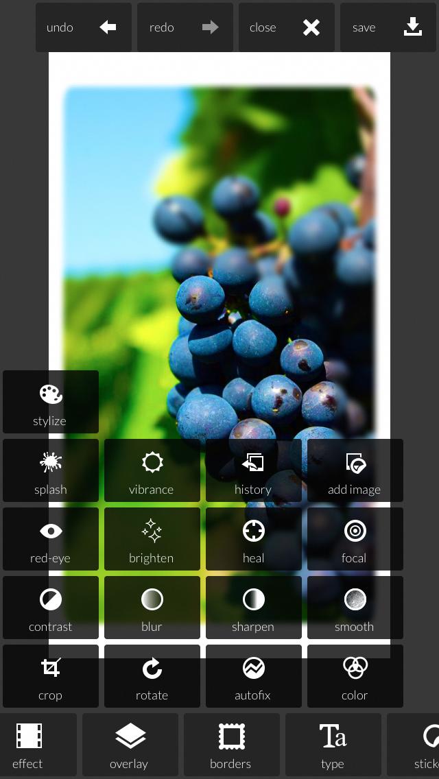 Screenshot of Pixlr Express for iPhone #iphonephotoeditorapp