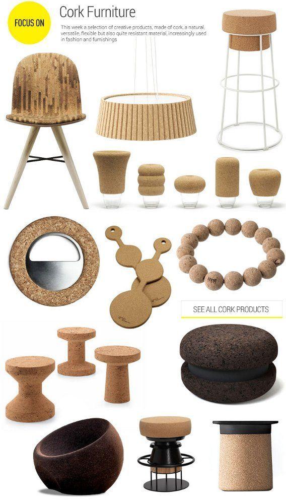 cork furniture sustainable interior design non toxic interior rh pinterest com