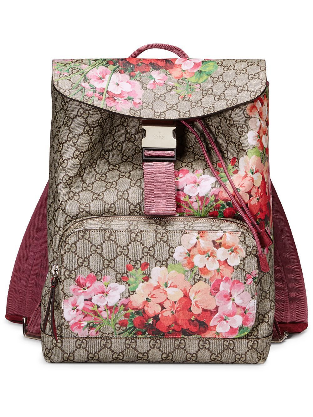 2a6eef265020c8 Gucci GG Blooms backpack in 2019 | Bags | Canvas backpack, Beige ...