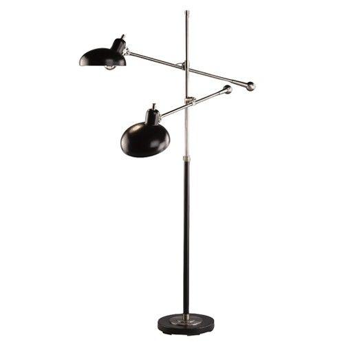 Bruno Adjustable Double Arm Pharmacy Floor Lamp Pharmacy Floor Lamp Adjustable