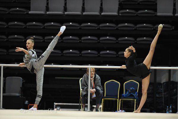 Aleksandra SOLDATOVA (RUS) Margarita MAMUN (RUS) Training