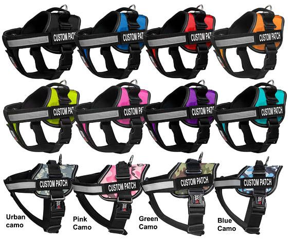 Personalized Dog Harness With Custom Patch Hook Fastener Backing