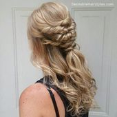 Classy hairstyles for wedding guests, #classyhairstylesmedium #Hairstyles # for ... #hairstylesforweddingguest