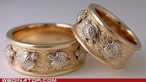 Sea Turtle Wedding Rings