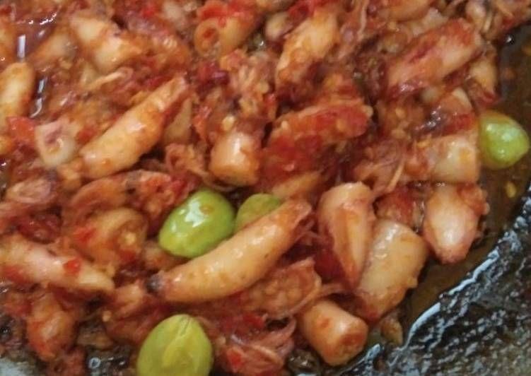 Resep Sambal Cumi Asin Pete Seuhah Oleh Cinta Syh Resep Makanan Resep Tumis