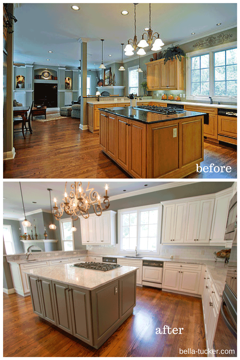 Painted Cabinets Nashville Tn Before And After Photos Kitchen Cabinets Before And After Repainting Kitchen Cabinets Painting Kitchen Cabinets White