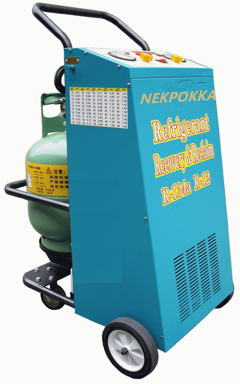 Refrigerant recovery and filling machine,It is suitable