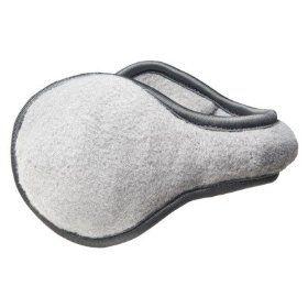 Degrees By 180s Women Discovery Ear Warmers (Behind Ear Design) - White Fleece
