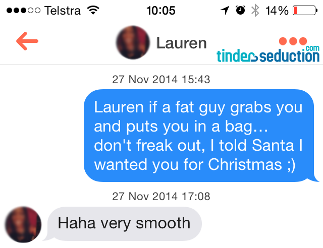 Best Christmas Tinder openers - lauren - Tinderseduction