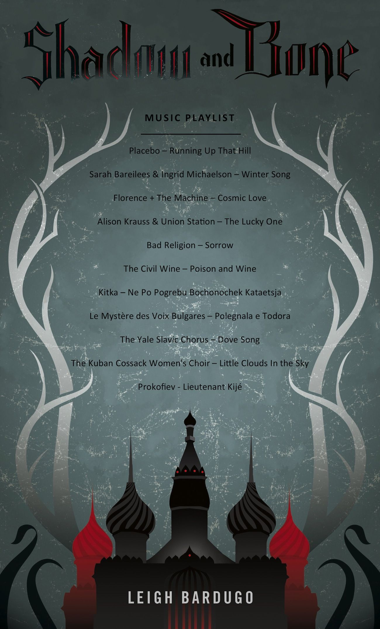 Music playlist for SHADOW AND BONE by Leigh Bardugo | The