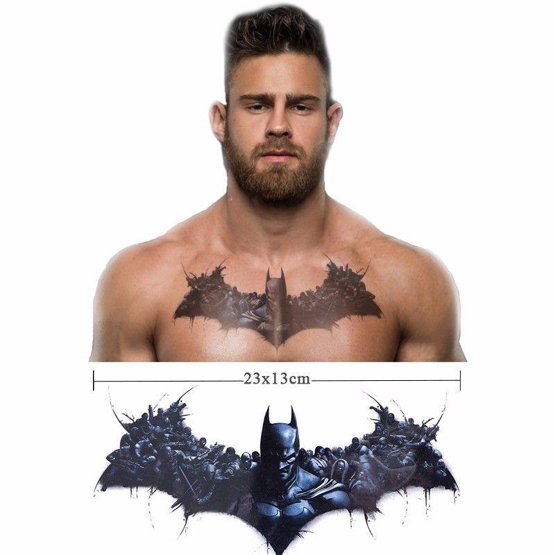 So Cool! 3D Batman CHEST Tattoo,but Temporary .