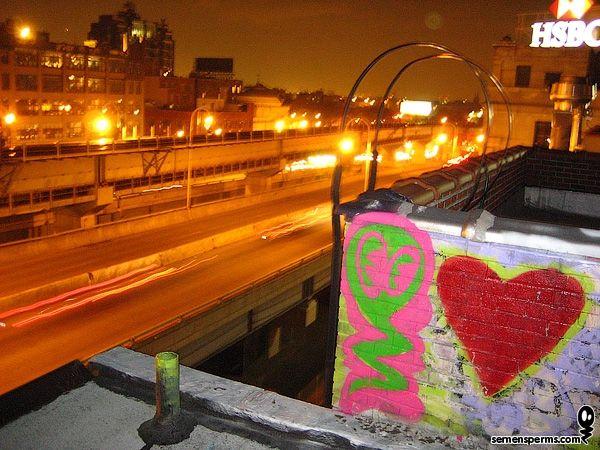 Semen sperm icon graffiti