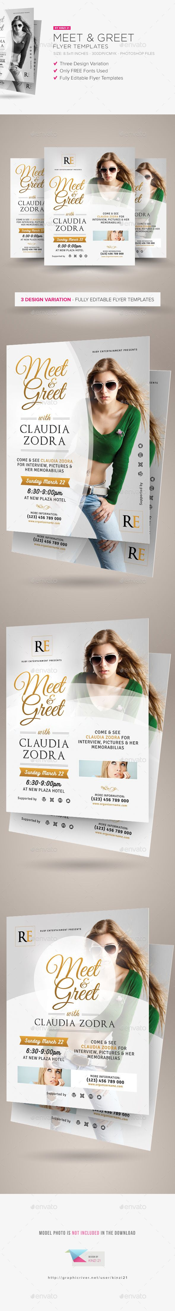 meet greet flyer templates a flyer template set is perfect for