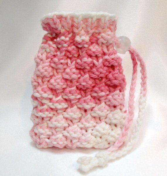 Soap Saver Bag, Soap Sack, Drawstring Pouch, Small Gift Bag, Pink ...