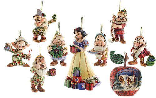 Dwarf Ornament Set Jimshore Disney 4008072 Seven Disney Figure Jim Showa Snow White Disney Christmas Decorations Disney Christmas Disney Traditions