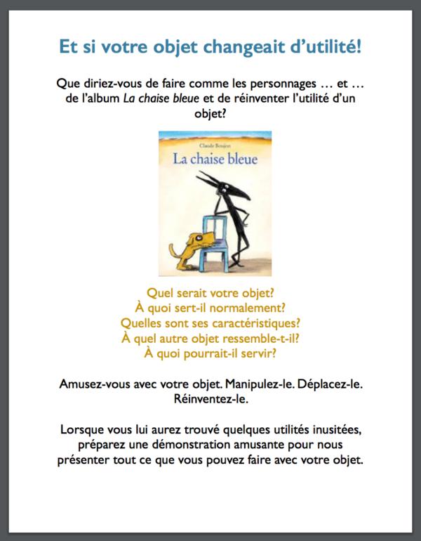 La Chaise Bleue Un Album Pour Faire Emerger La Creativite Chez Les Enfants J Enseigne Avec La Litterature Jeunesse Chaise Bleu Album S Amuser