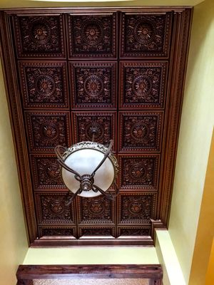 Faux Tin Coffered Ceiling Tile