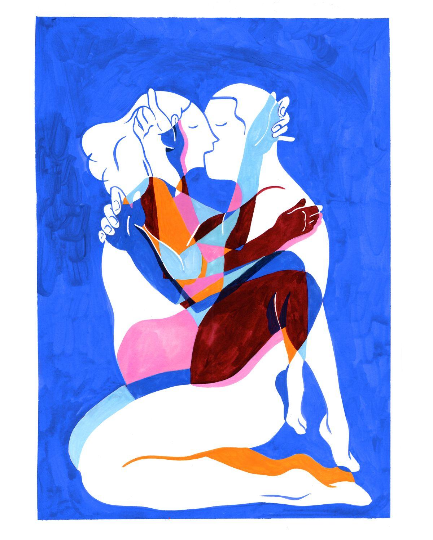 Love is blue on Behance - art - illustration