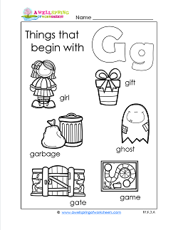 Things that Begin with G | Kails G project | Picture letters