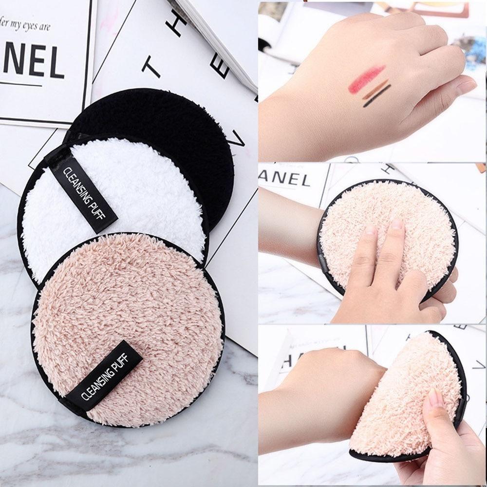 Soft Microfiber Makeup Plush Puff Remover 1pc Makeup