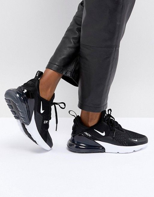 Nike Air Max 270 Trainers In Black Pinterest Air max, Trainers