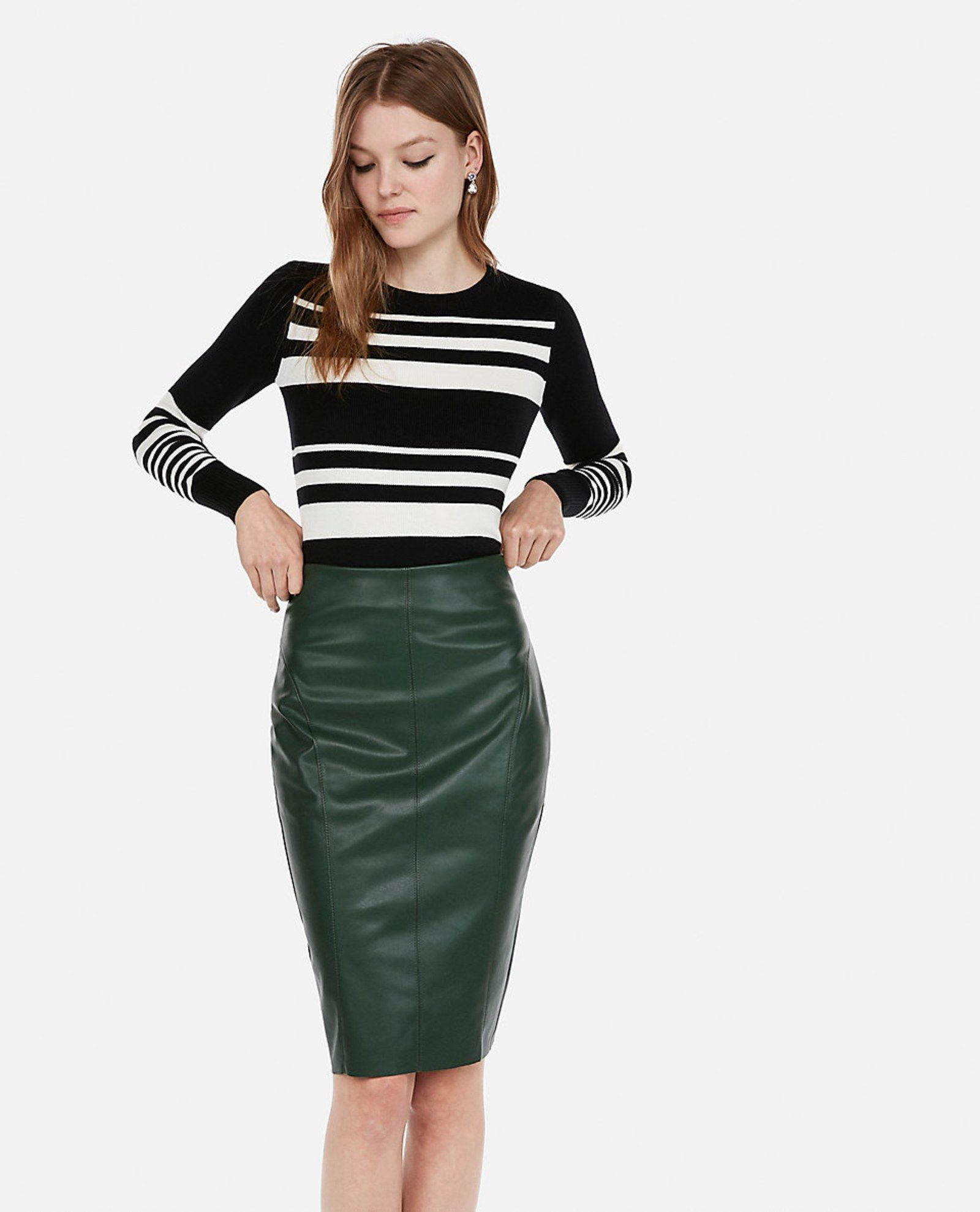 2aa59cb849 Faux Leather Pencil Skirt - YouTube