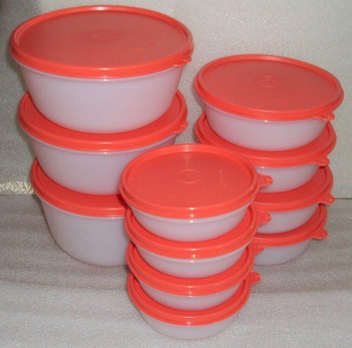 11pc Tupperware Sheer Modular Nesting Bowl Set Watermelon Seals By Tupperware 95 99 4 Piece 2 1 2 Cup Bowls And Serving Storage Storage Bowls Nesting Bowls