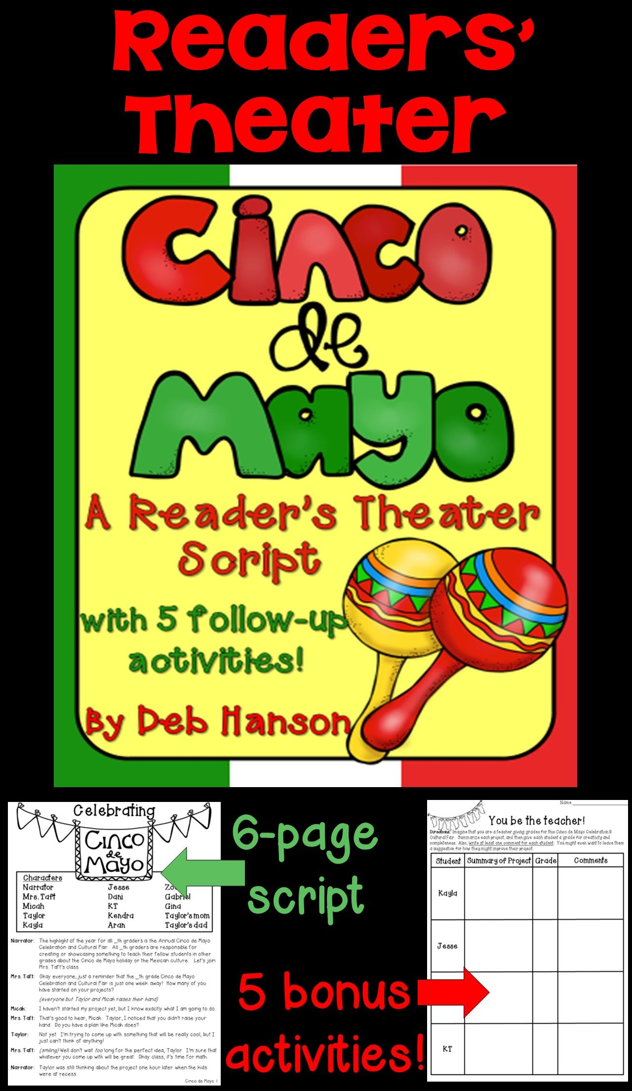 Cinco De Mayo A Readers Theater Script With 5 Bonus