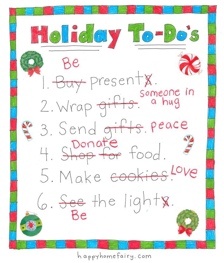 Your New Holiday ToDo List  Free Printable  Free Printable Hug