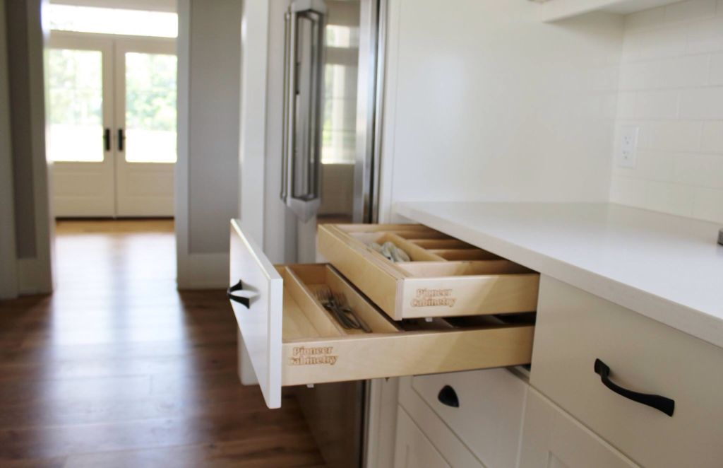 Pioneer Cabinetry, Tillsonburg Birch double cutlery trays ...
