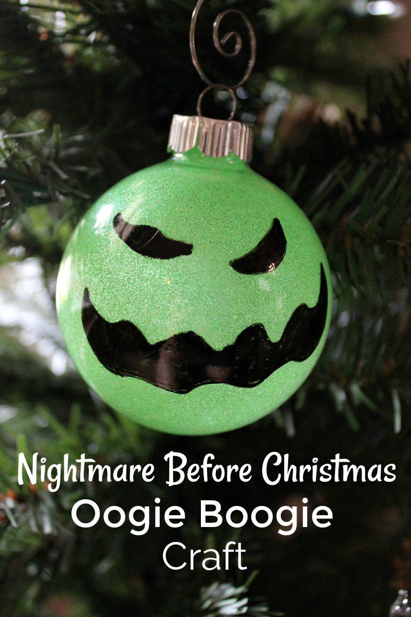 Disney Diy Oogie Boogie Ornament Craft Nightmare Before
