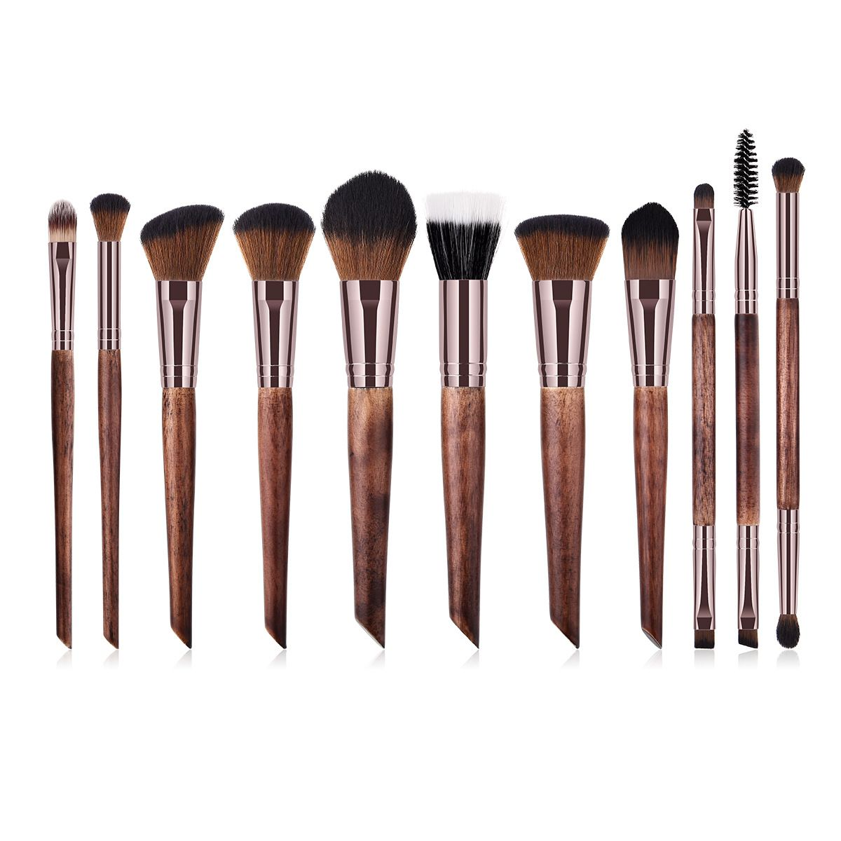 Luxury makeup brushes set available wholesale wooden