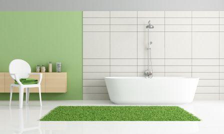Farben im Badezimmer Grüner Teppich im Bad! Grün - Farbe der - farbe für badezimmer